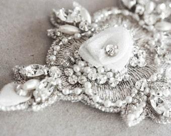 Ivory Bridal Sash - Jioni (Made to Order)