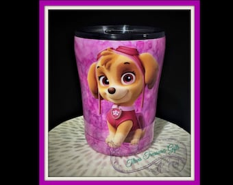 Paw Patrol  Inspired Custom Personalized Tumbler, Insulated Tumbler, Custom Tumbler Cup, You Choose the Characters you want!!