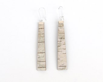Birch bark earrings, Forest for two