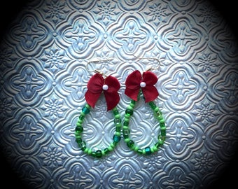Glass Bead Wreath Earrings