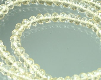 1/2 Strand AAA Scapolite Micro-Faceted Rondelles 3mm - 5mm