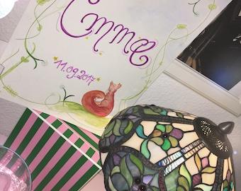 Custom Name / Animal Painting for Children