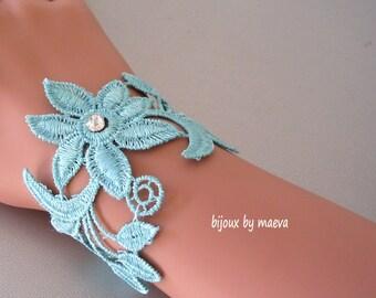 Wedding Jewelry Bracelet turquoise lace
