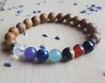 Chakra Bracelet 7 Chakras Gemstone Beads Crystal Bracelet Chakra Balancing Bracelet Meditation Jewelry Yoga Jewelry 7 Chakra Stones