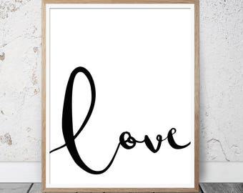 wall art decor, love quote, love printable poster, love wall print, love wall art, modern prints, valentines gift, wedding prints,