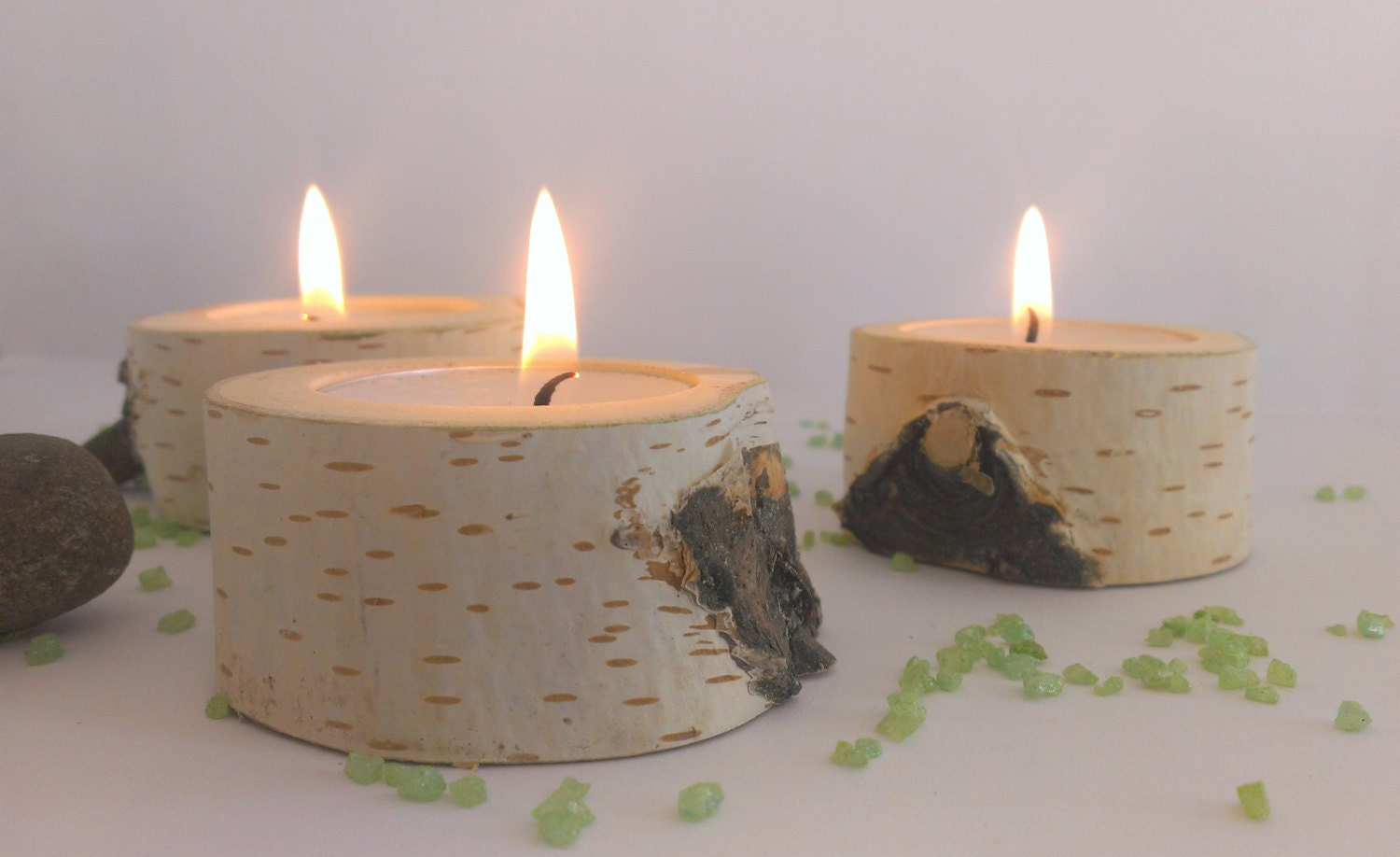 Birch Tree Branch Candle Holder Wooden Candle Tealight