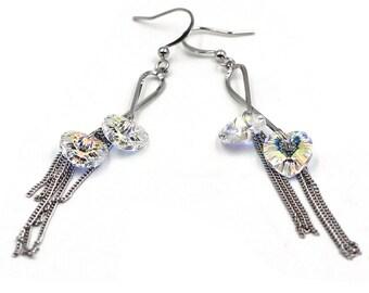 Elegant fashion heartbeat earrings