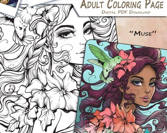 Muse - Adult Coloring Page