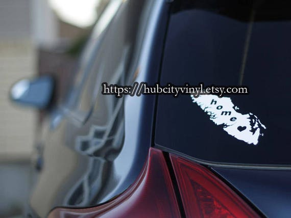 Vancouver island home vinyl decal