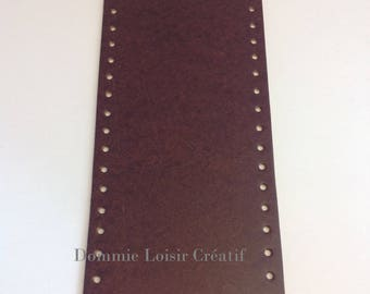 Bottom of bag made of eco Leather - Brown - oval 36 x 12 cm