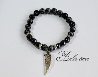 Hematit, Obsidian -  bracelet for woman