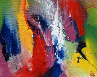 ON SALE Abstract - Knocking on Heavens Door Original painting - 24 x 30 - Skye Taylor