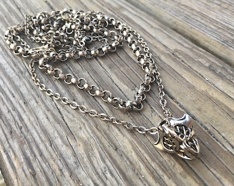 Vintage layered chain necklace