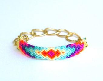 Chunky Chain Friendship Bracelet. Arm Candy.