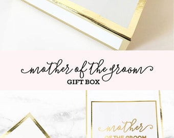 Mother of the Groom Gift from Son Mom Gift Basket Mother of the Bride Gift from Bride Thank You Mom Gift Box (EB3171MOM) EMPTY BOX