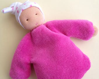 Waldorf Doll, Baby doll, first doll, rag doll, baby shower, birth, gift for babies, baptism, pocket doll, Doll Girl,
