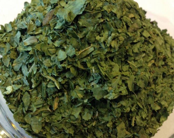 1 lb  Spinach Flake Organic Air dried, No sulfites, No Additives, No Preservatives