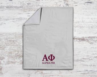 Alpha Phi Classic Sweatshirt Blanket Throw Greek Licensed Sorority Gift