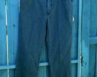 Vintage Lisa Valli faded black jeans