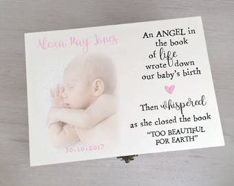 Gorgeous Personalised Memory Keepsake Box Printed With Your Own Photo Gift Box Memory Box Keepsake Box Memento