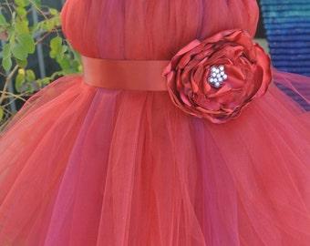 Holiday tutu dress, chirstmas tutu dress, red tutu dress,
