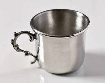 Handmade Pewter Baby Cup