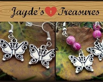 Beautiful Beaded Butterfly Earrings