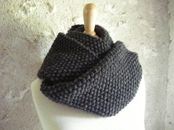 unisex knit cowl - knit scarf - infinity scarf - loop scarf - handknit scarf - wool alpaca scarf - circle scarf - boyfriend girlfriend gift