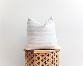18X18 Cotton Pillow Cover Light Grey