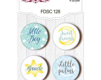 scrapbooking flair buttons baby boy