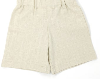 Boys Natural Linen Shorts, Toddler Linen Shorts, Baby Linen Shorts, Ring Bearer Outfit, Boys Linen outfit, Boy Formal Short, Page Boy Outfit