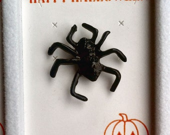 1960s-70s Vintage HALLOWEEN Pin SPIDER Design