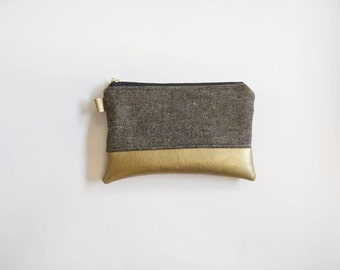 Ready to ship! Coin purse in black and gold