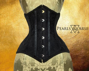 Pearls & Arsenic : RAVEN Brocade Underbust (Limited Edition)