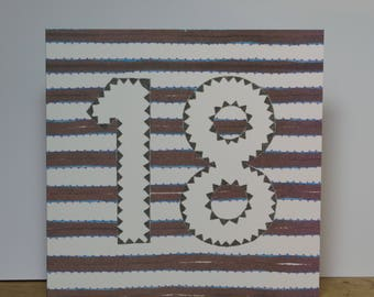 Brown Striped 18
