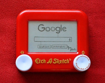 Google Logo Homepage signed Etch A Sketch art print (pick your size!)
