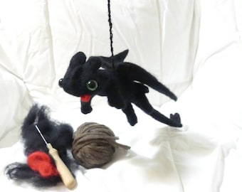 Handmade needle  felted hanging decorative toothless from how to train your  dragon