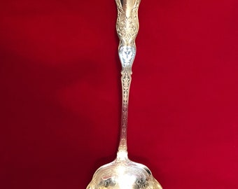"ALHAMBRA Large 9 1/2"" Soup Ladle Rogers Silverplate Ornate Engraved Motif"