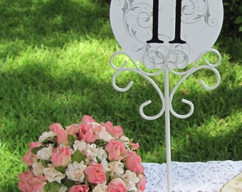 Wedding Table Number Holders or Stationery Photo Holders White Reception Table Number Holders