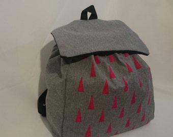 Denim backpack triangles (design only)