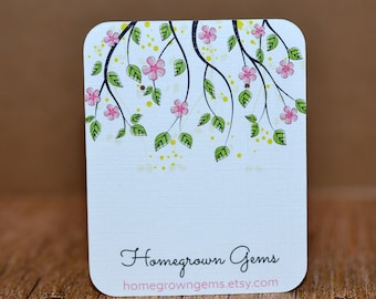 Earring Cards - Customized - Personalized -  Jewelry Display - Branding - Flowers Vines | DS0010