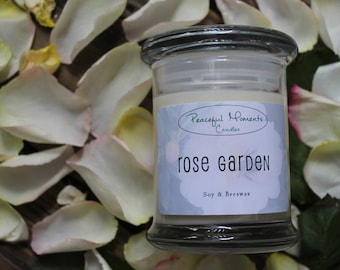 Rose Garden- Soy & Beeswax Candle
