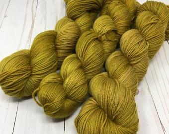 Hand Dyed Yarn on Merino cashmere Nylon MCN  - bronze - Age of Brass