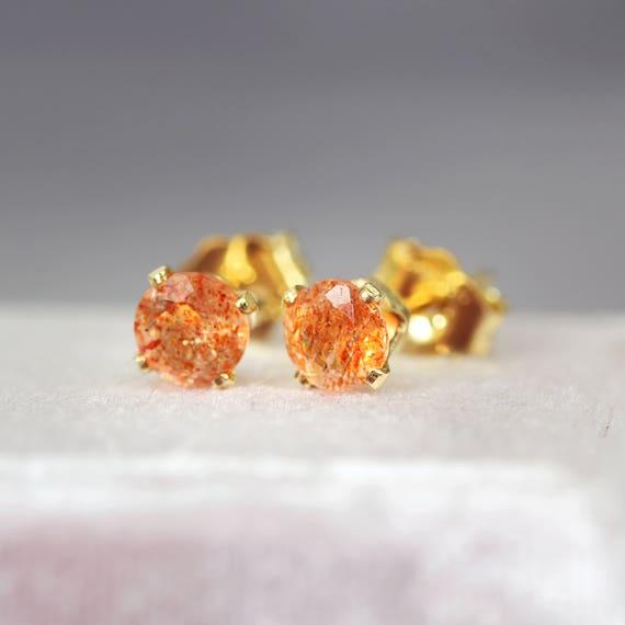 Sunstone Earrings - Earrings For Good Luck & Travel