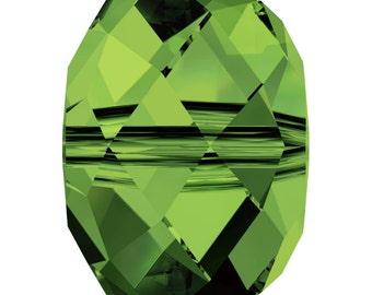 Swarovski Crystal Briolette Beads 5040 -4mm 6mm 8mm - Dark Moss Green