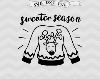 Christmas SVG baby Christmas svg Vector file Cricut downloads Christmas sweater svg cricut files Reindeer svg Happy Holiday svg Cutting file