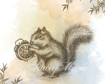 "The Squirrel - ""Woodland Creatures"" series Art Print"