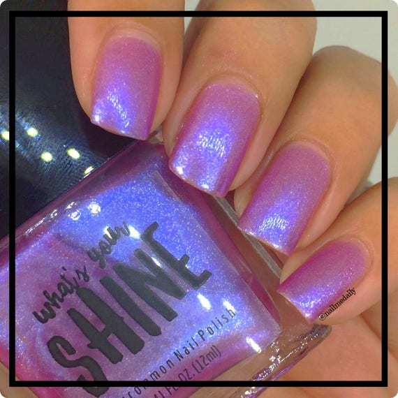 Baby Jane Iridescent Pink to Blue Colorshifting Indie Nail