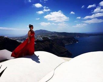 Santorini Bride Original Photograph