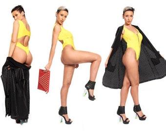 Yellow Thonged swimsuit